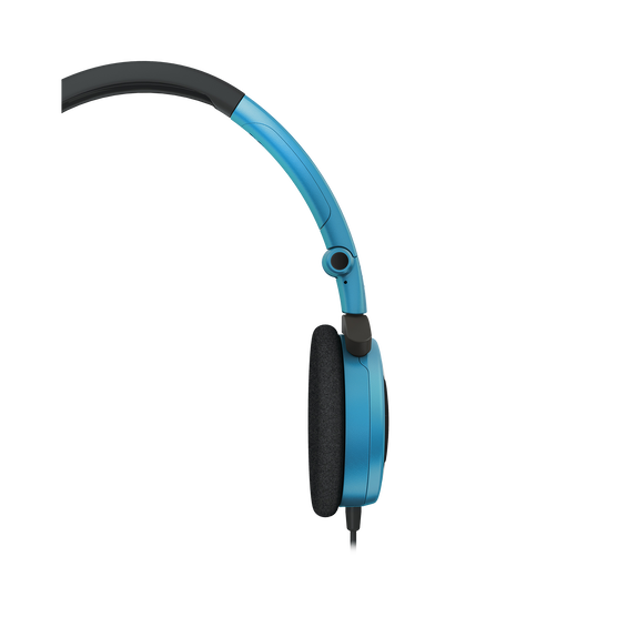 Y 30 - Teal - Stylish, uncomplicated, foldable headphones with 1 button universal remote/mic - Detailshot 1