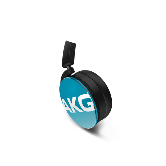 Y50 - Blue - On-ear headphones with AKG-quality sound, smart styling, snug fit and detachable cable with in-line remote/mic - Detailshot 1