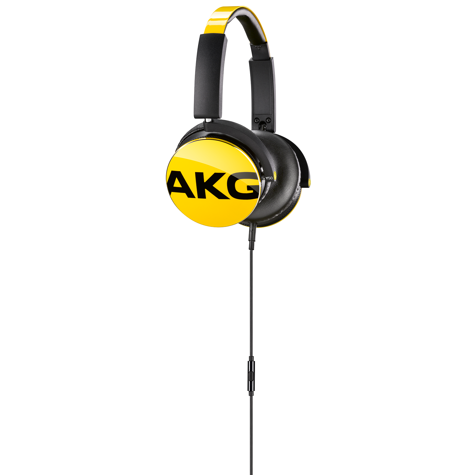 Y50 - Yellow - On-ear headphones with AKG-quality sound, smart styling, snug fit and detachable cable with in-line remote/mic - Detailshot 1