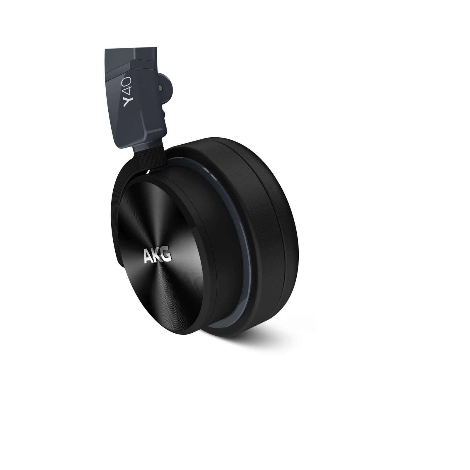 Y40 - Black - High-performance foldable headphones with universal in-line microphone and remote - Detailshot 1